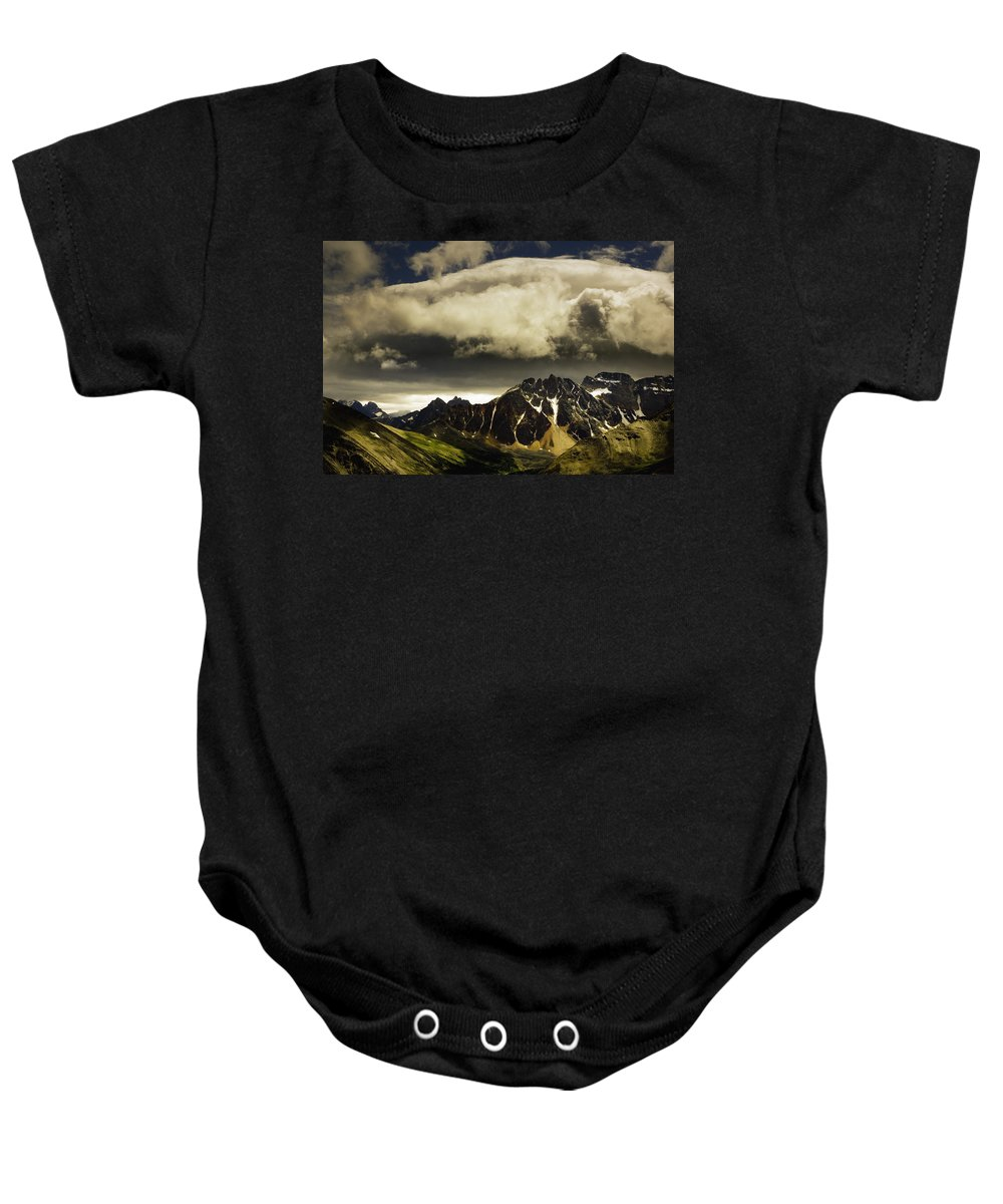 Canada Baby Onesie featuring the photograph Patches Of Light Find Their Way Through by Darren Greenwood