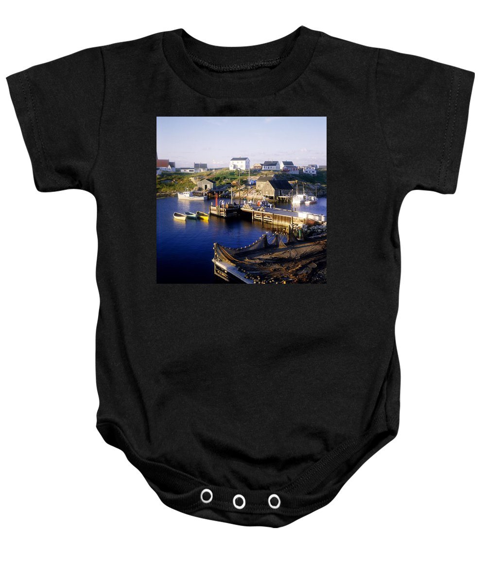 Canada Baby Onesie featuring the photograph Peggys Cove, Nova Scotia by David Chapman