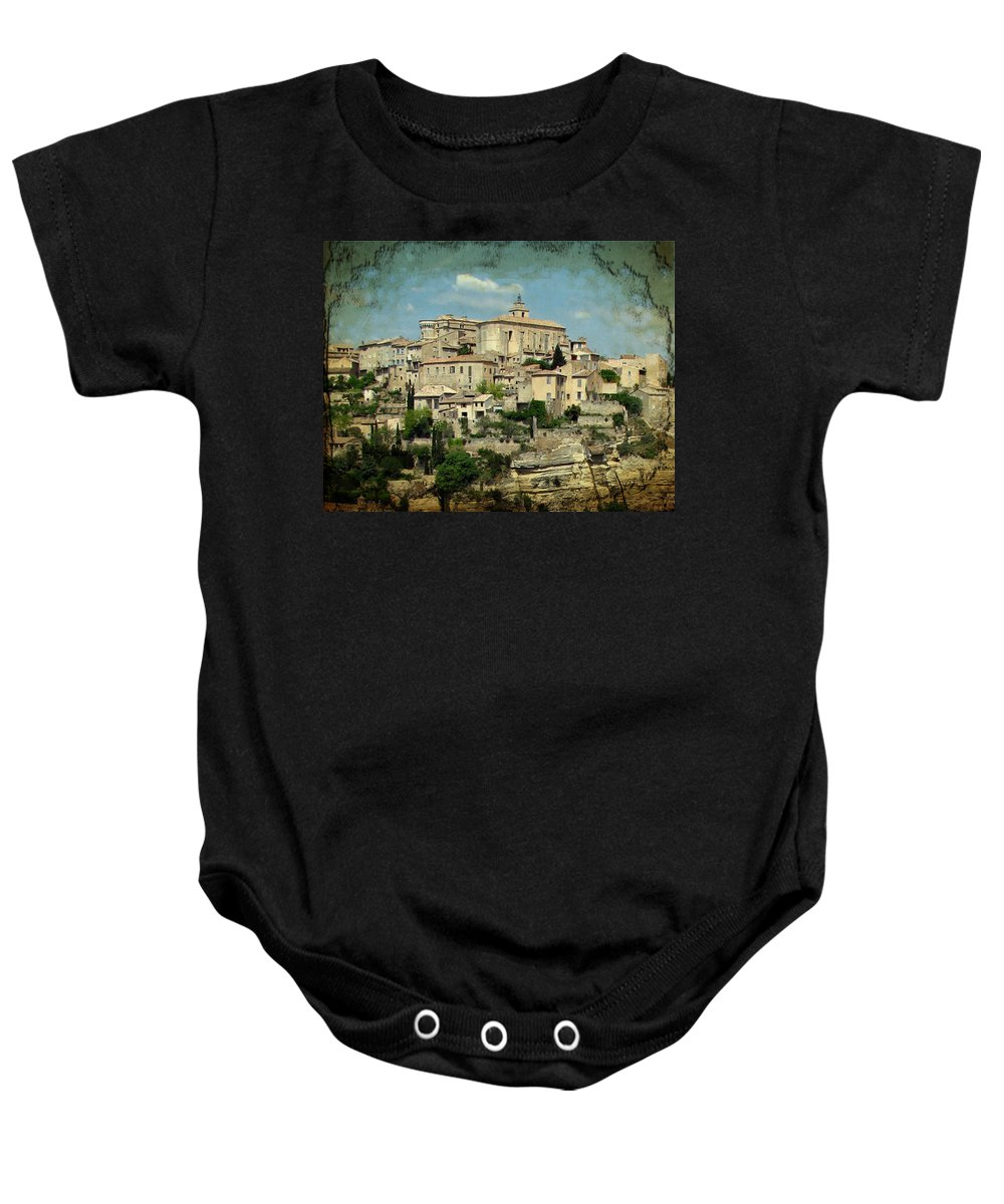 Gordes Baby Onesie featuring the photograph Perched Village Of Gordes by Carla Parris