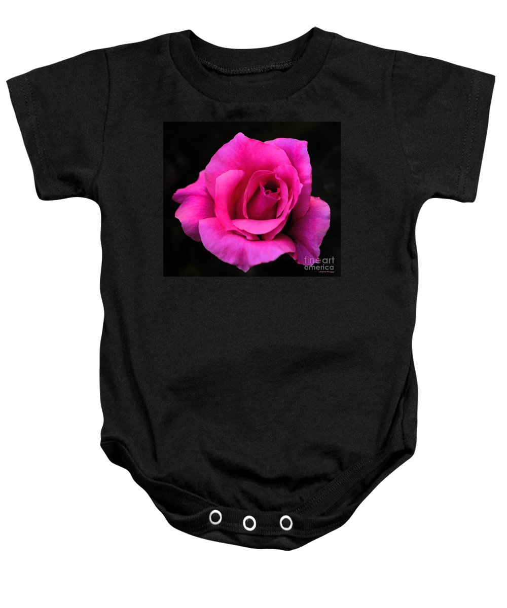Clay Baby Onesie featuring the photograph Perfect Rose by Clayton Bruster