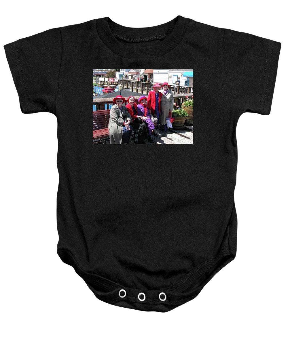 Guy Whiteley Photography Baby Onesie featuring the photograph Pier 39 Friends by Guy Whiteley