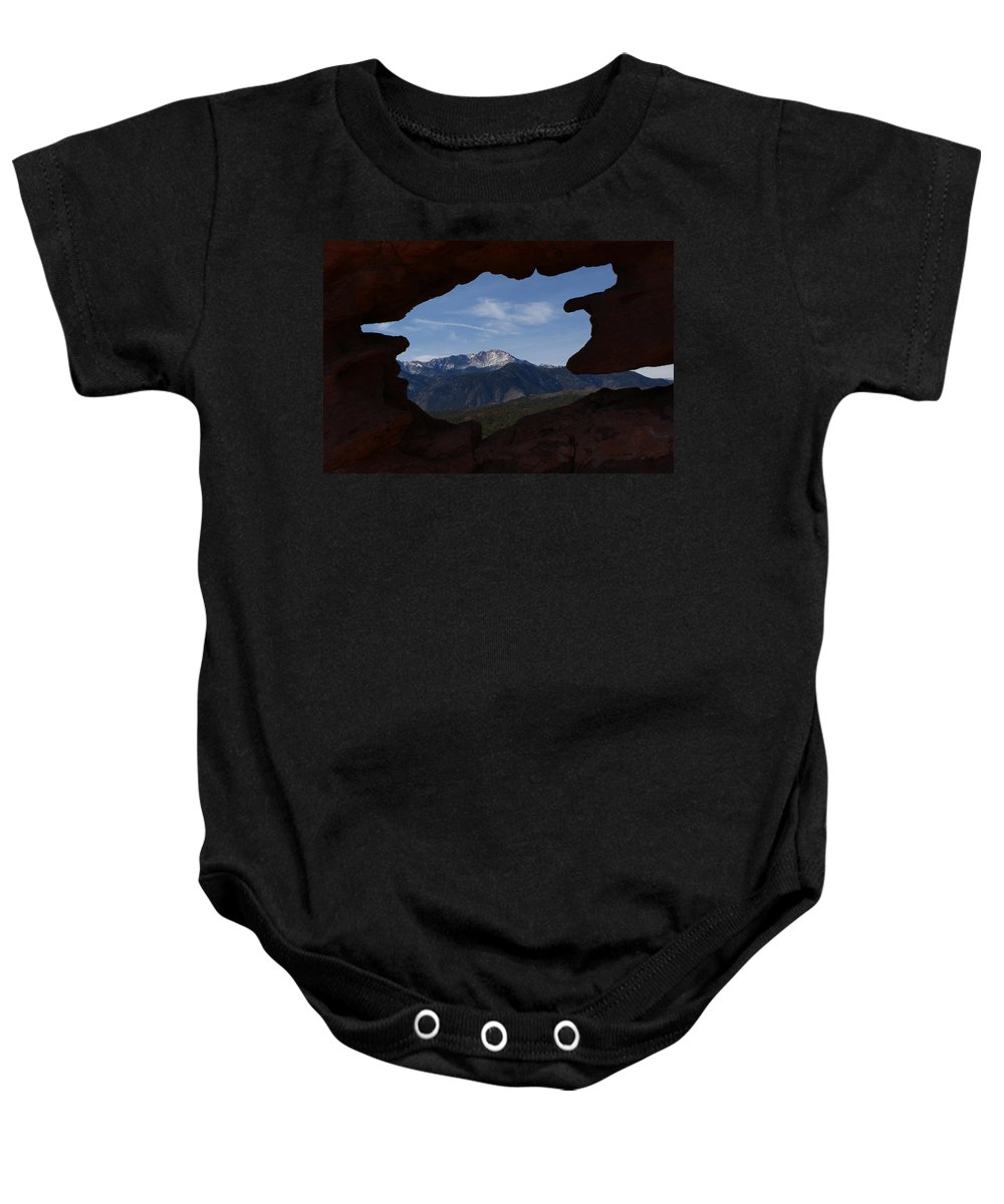 Colorado Baby Onesie featuring the photograph Pikes Peak 2012 by Ernie Echols