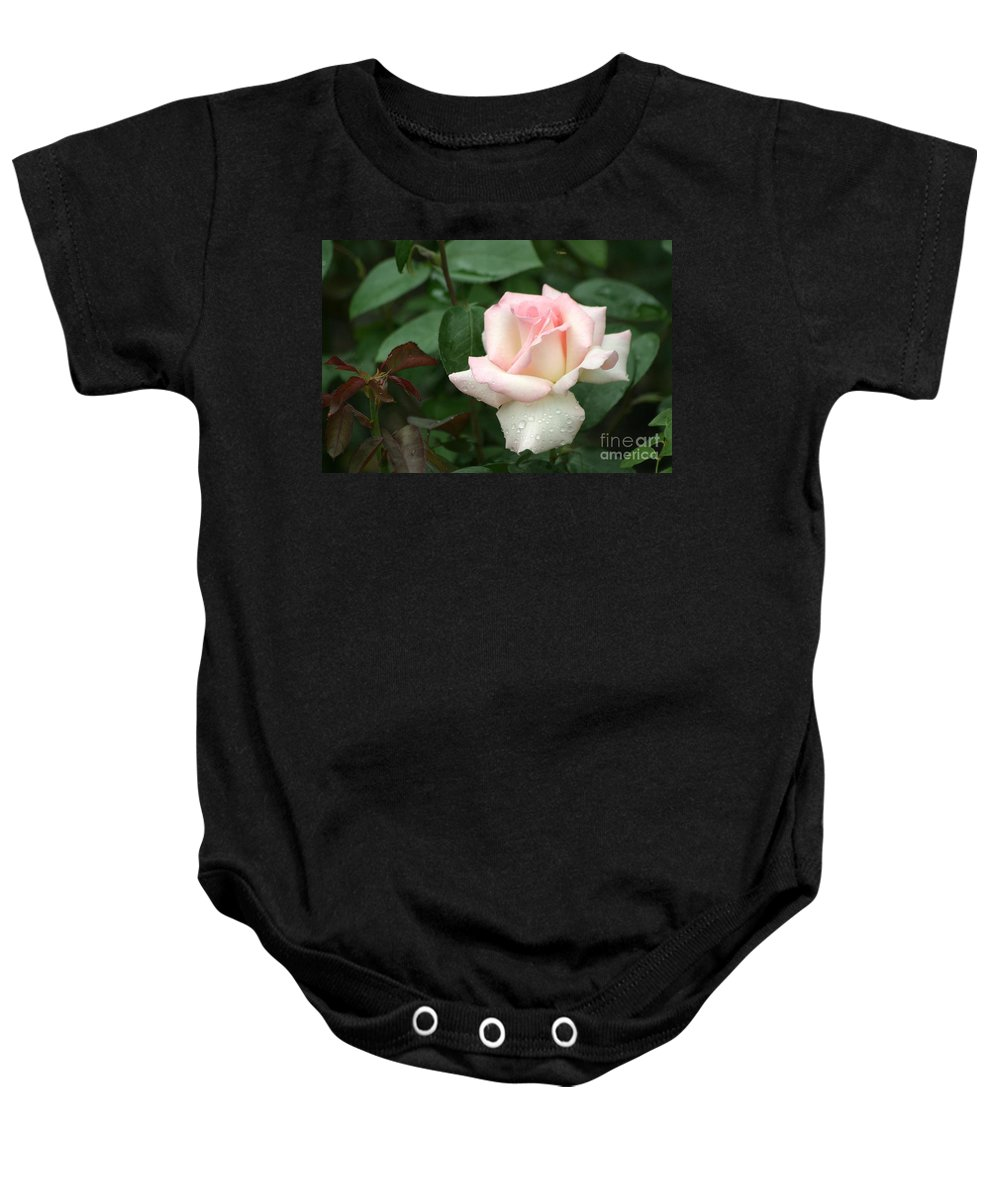 Rose Baby Onesie featuring the photograph Pink Promise by Living Color Photography Lorraine Lynch