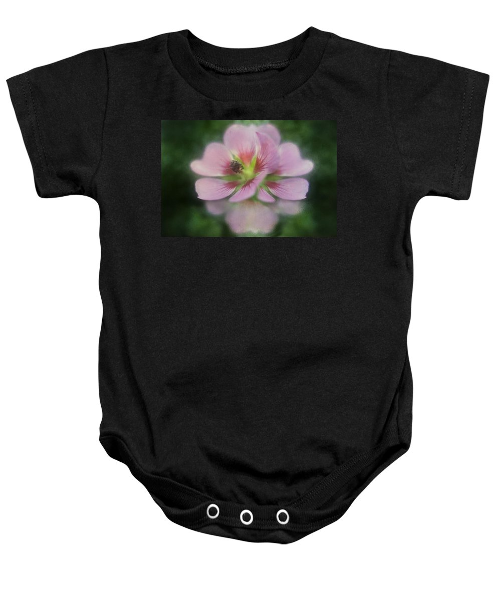 Flower Baby Onesie featuring the digital art Pink Reflection by Diane Dugas