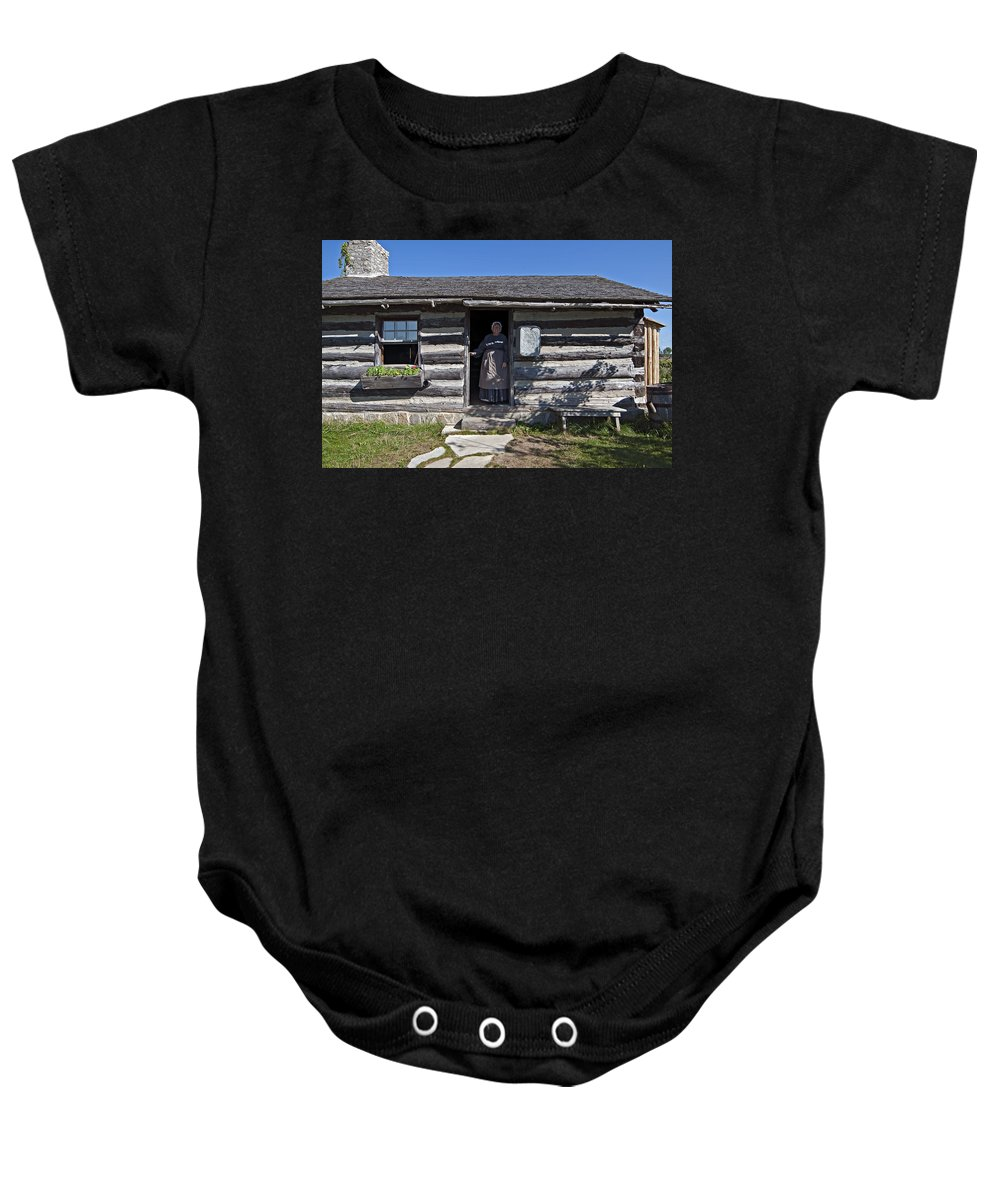 1800's Baby Onesie featuring the photograph Pioneer Greeting by Steve Harrington