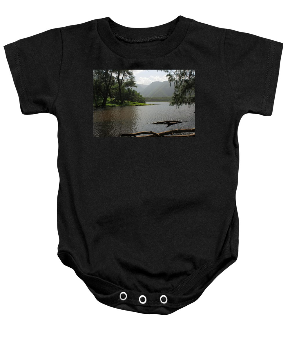 Hawaii Baby Onesie featuring the photograph Pololu Valley Off Awini Trail by Scott Rackers