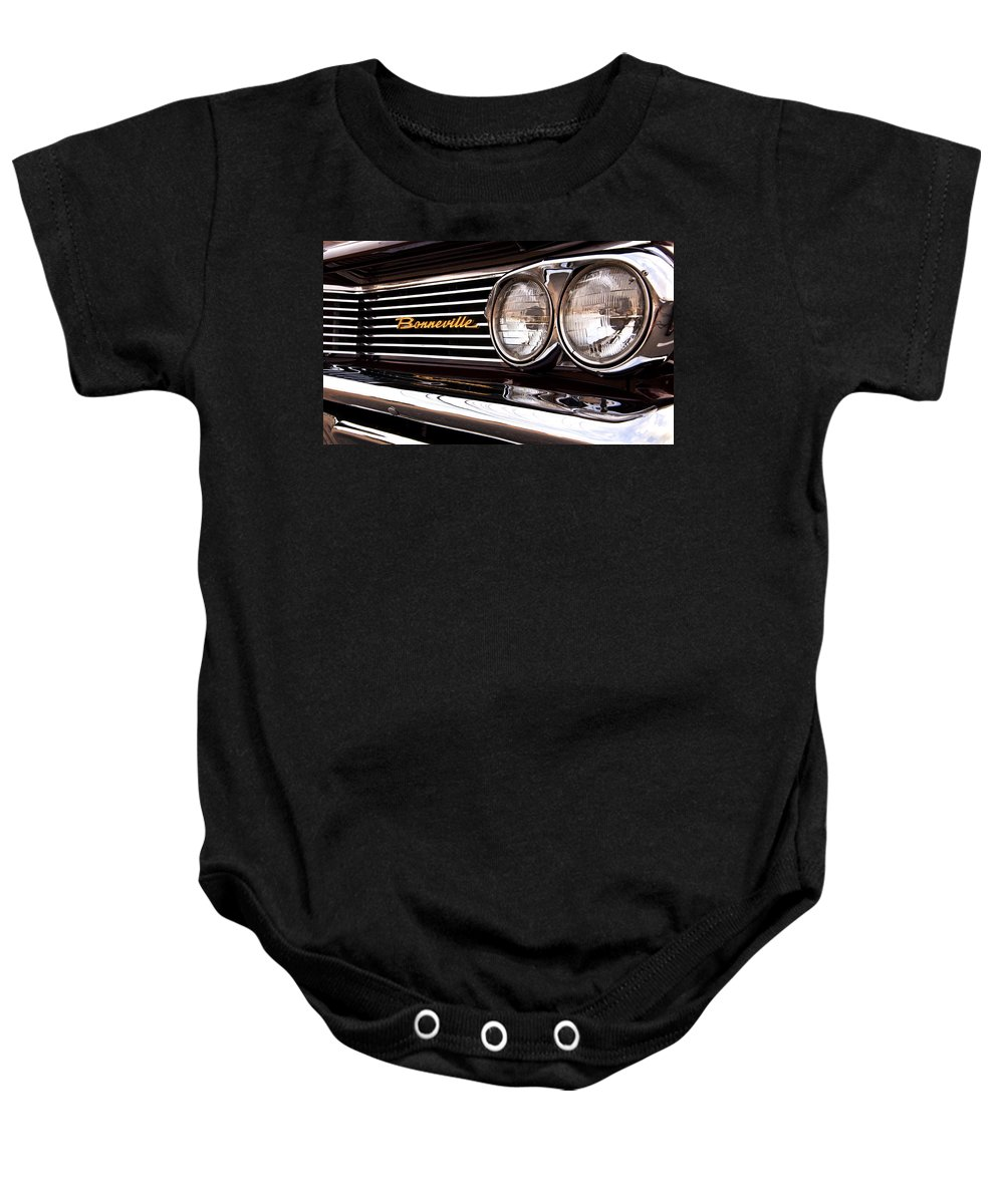 Bonneville Baby Onesie featuring the photograph Pontiac Bonneville by Glenn Gordon