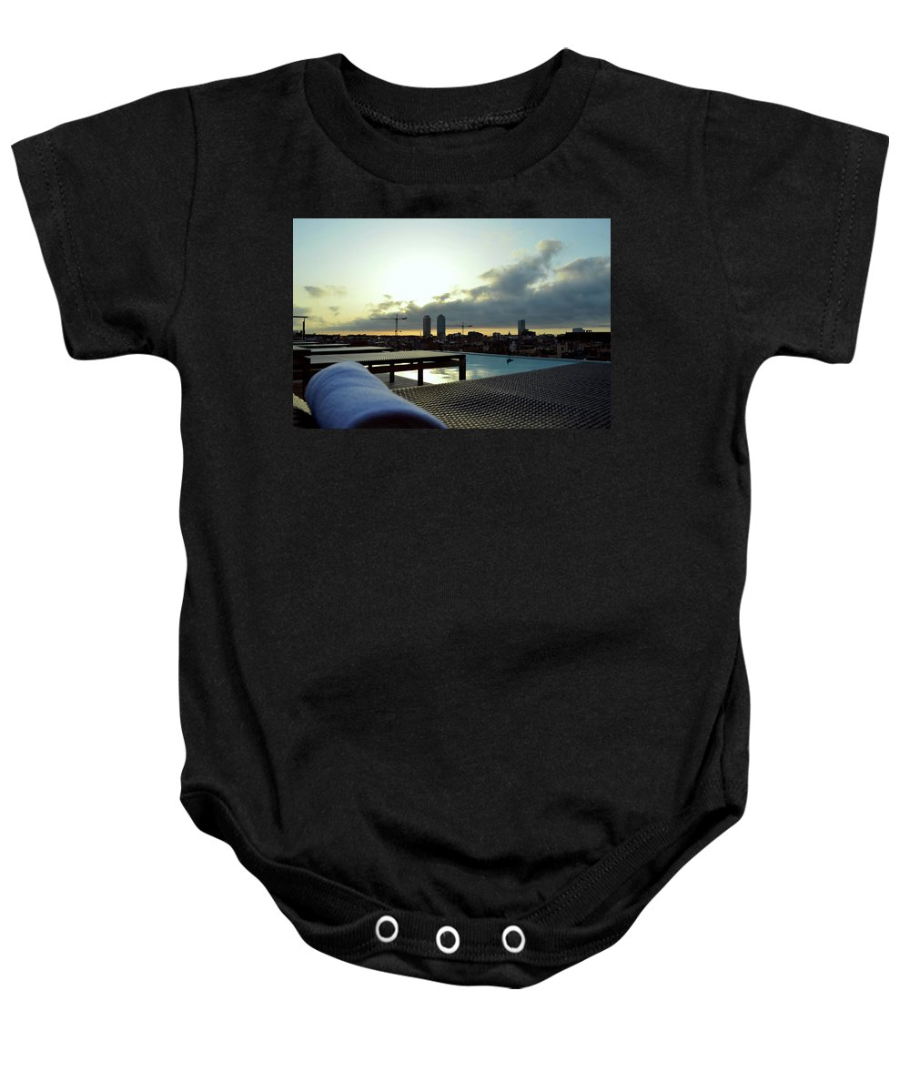 Pool Baby Onesie featuring the photograph Poolside by La Dolce Vita