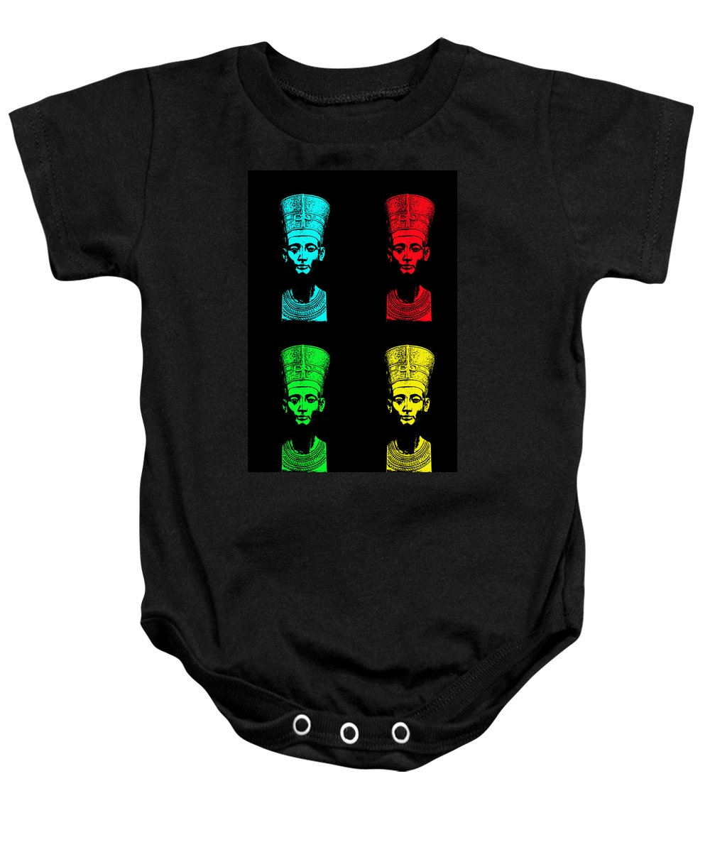 Queen Baby Onesie featuring the photograph Pop Nefertiti by One Rude Dawg Orcutt