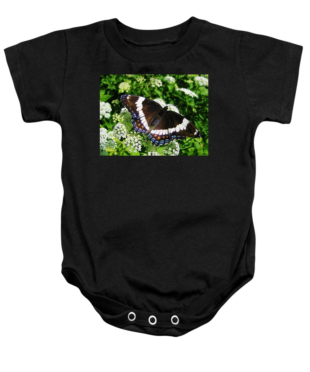 Butterfly Baby Onesie featuring the photograph Posing Butterfly by Sherman Perry