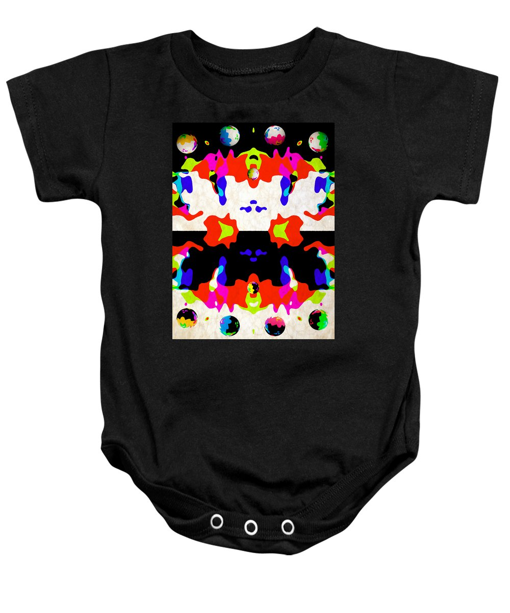 Space Baby Onesie featuring the digital art Postive And Negative Space by Angelina Vick