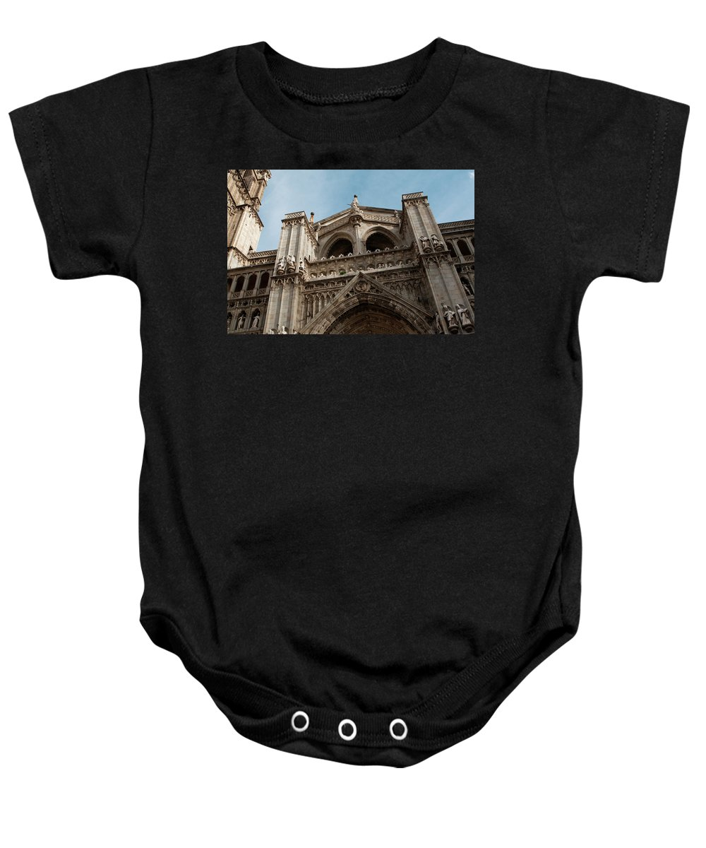 Primate Cathedral Baby Onesie featuring the photograph Primate Cathedral by Lorraine Devon Wilke
