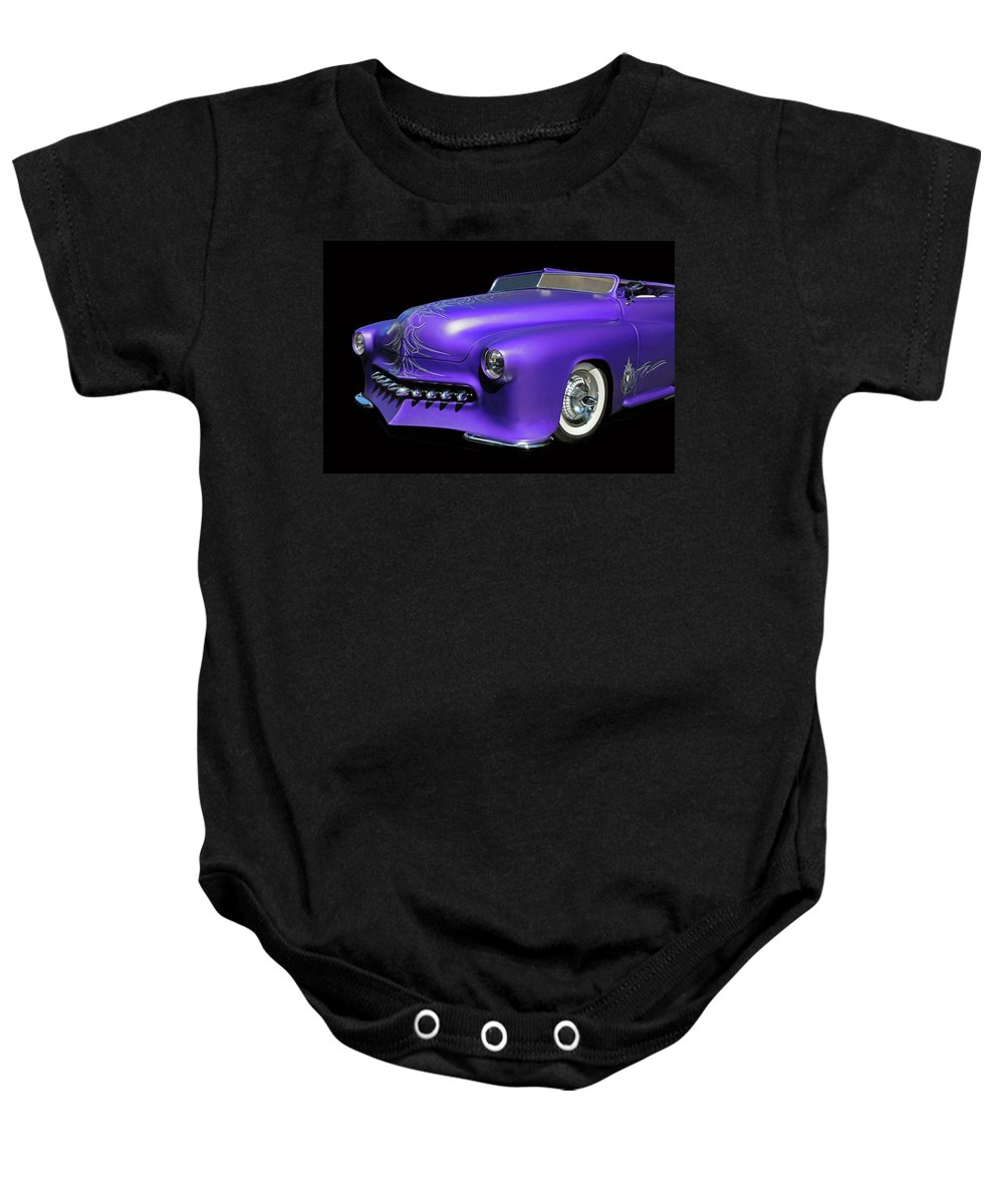 Car Baby Onesie featuring the photograph Purple Customized by Dave Mills