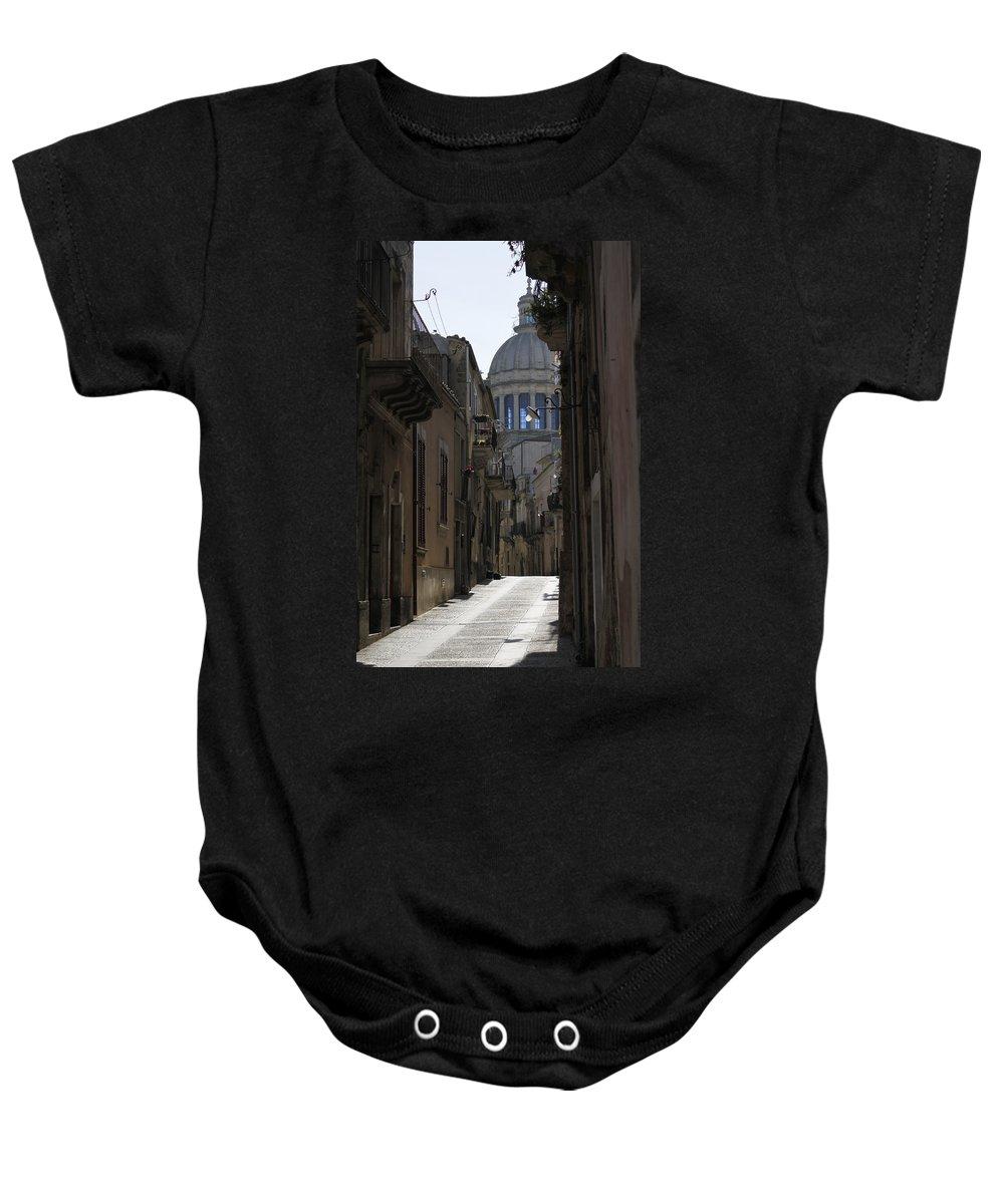 Ragusa Ibla Baby Onesie featuring the photograph Ragusa Ibla by Donato Iannuzzi