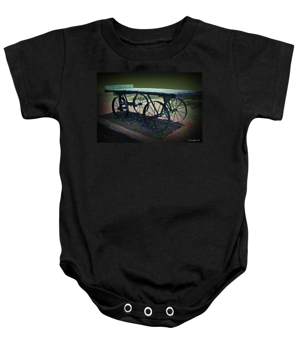 2d Baby Onesie featuring the photograph Rail Road Wagon by Brian Wallace