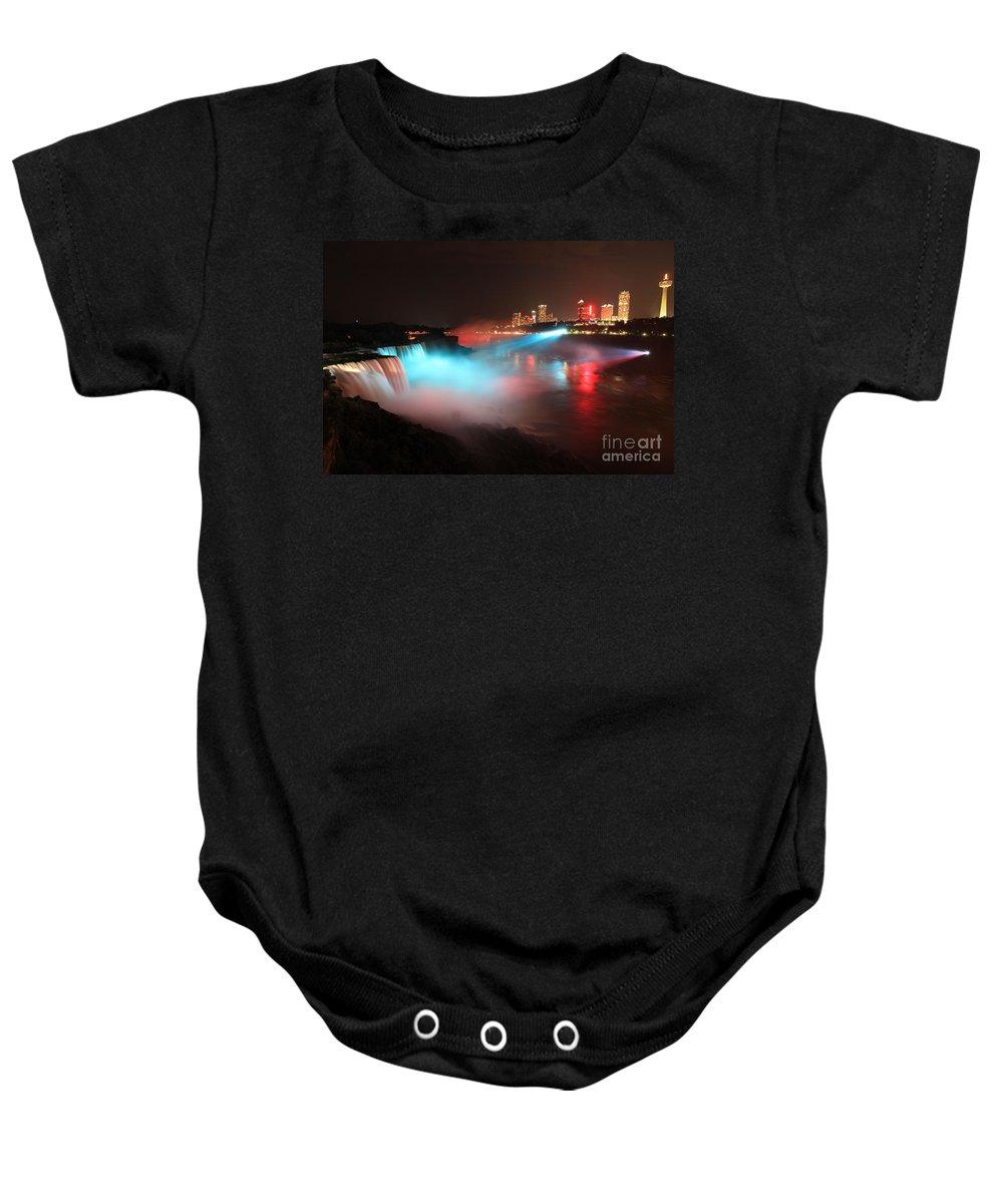 Niagara Falls Baby Onesie featuring the photograph Rainbow Mist by Adam Jewell