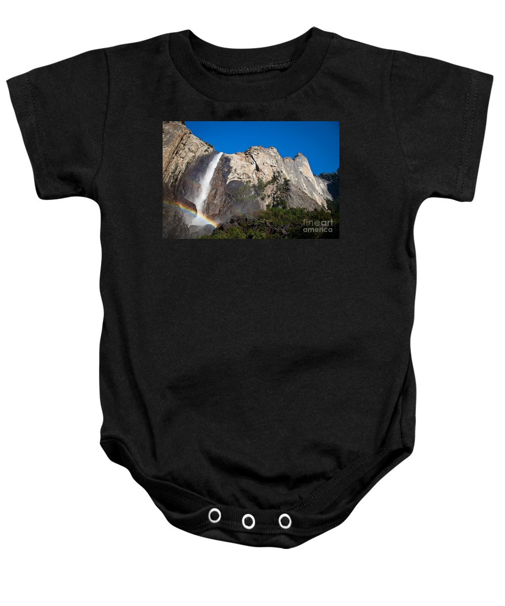 Granite Baby Onesie featuring the photograph Rainbow On Bridalveil Fall by Olivier Steiner