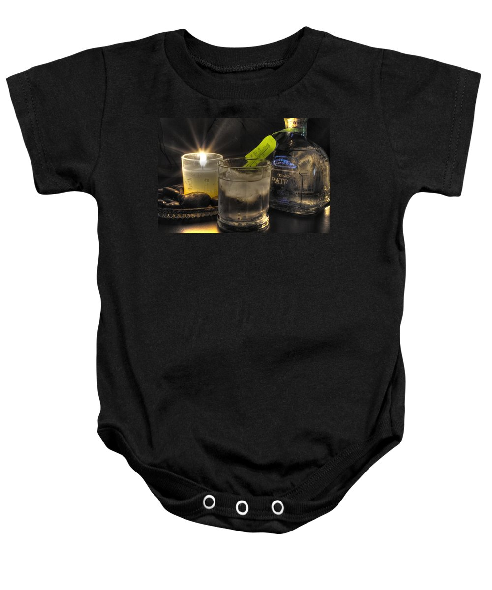 Baby Onesie featuring the photograph Rainy Friday Night by Michael Frank Jr