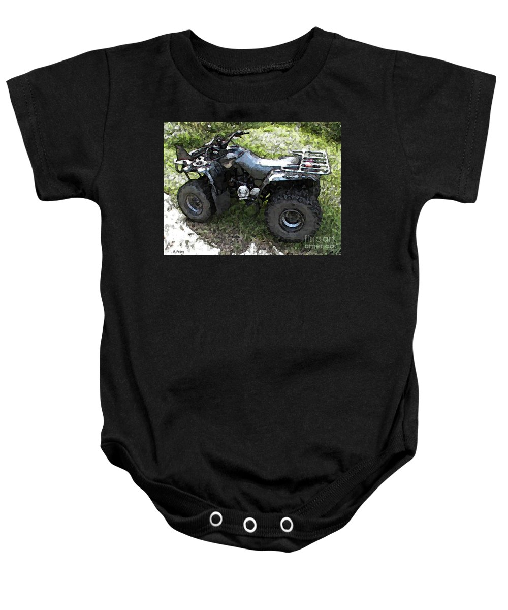 4 Wheeler Baby Onesie featuring the photograph Ready To Ride by George Pedro