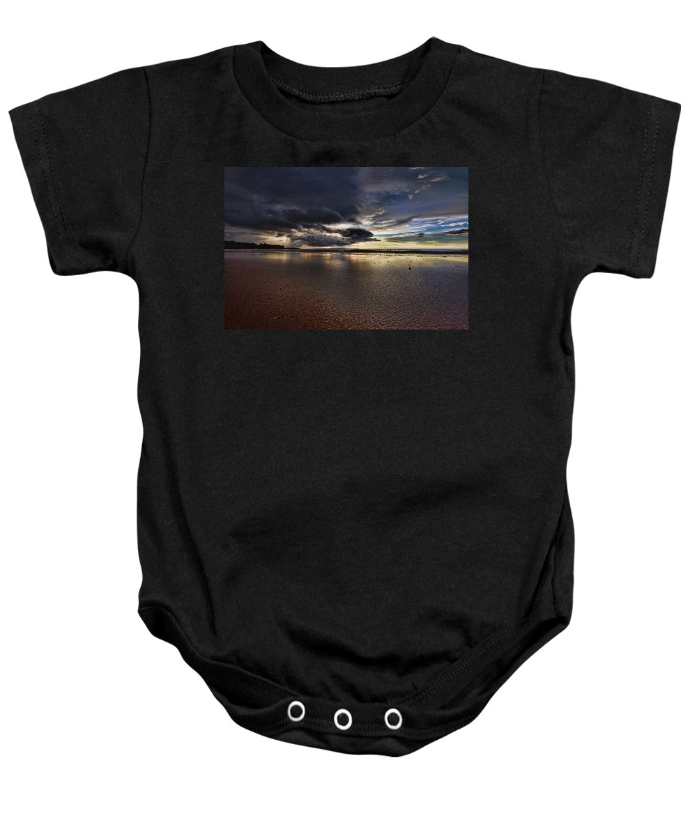 Mindil Beach Baby Onesie featuring the photograph Receding Waters V2 by Douglas Barnard