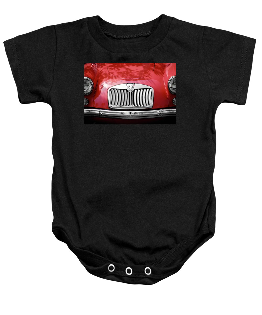 Mg Baby Onesie featuring the photograph Red Mg by Mark Greenberg