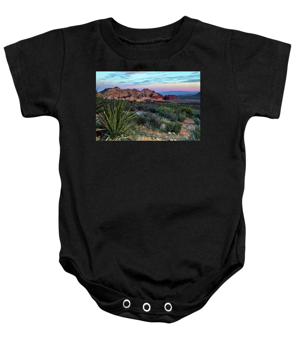 Nevada Baby Onesie featuring the photograph Red Rock Sunset II by Rick Berk