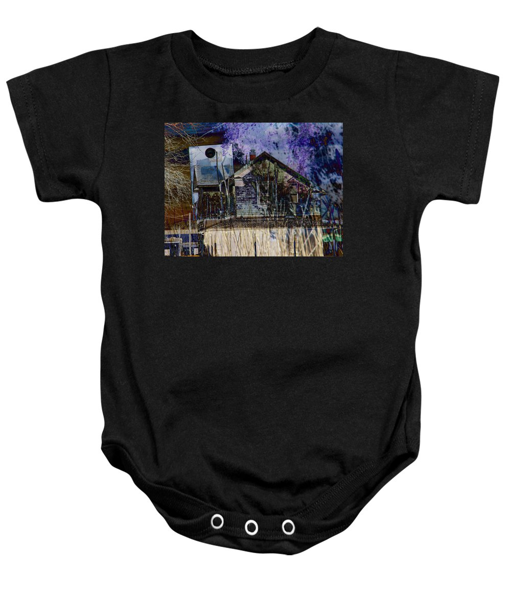 Abstract Baby Onesie featuring the photograph Redefining The American Dream 1 by Lenore Senior
