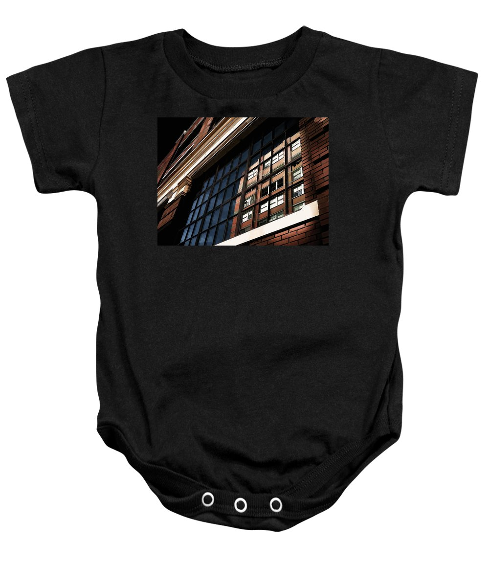 Architecture Baby Onesie featuring the digital art Reflection 1409 by Douglas Pittman
