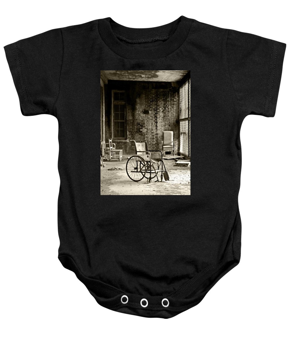 Abandoned Baby Onesie featuring the photograph Restrain by Conor McLaughlin