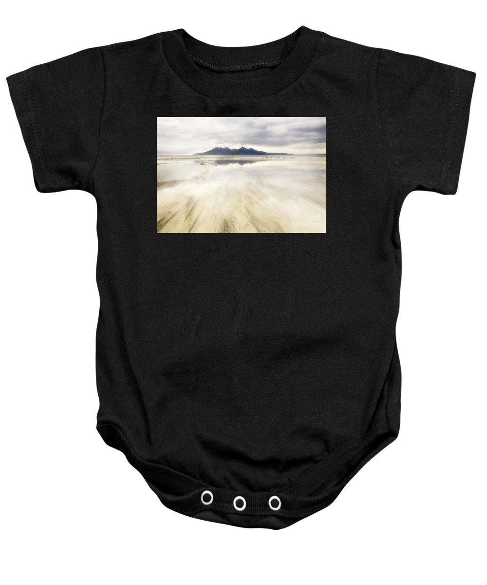 Eigg Baby Onesie featuring the photograph Rhum From Laig Bay by Janet Burdon