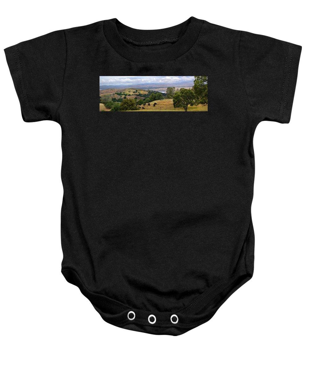 Livermore Baby Onesie featuring the photograph Rocky Ridge by Karen W Meyer