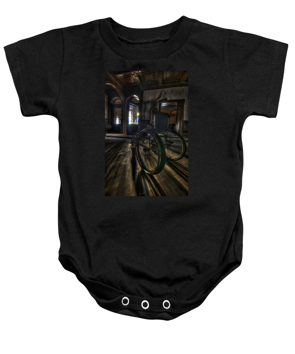 Abandon Baby Onesie featuring the photograph Roll Up by Nathan Wright