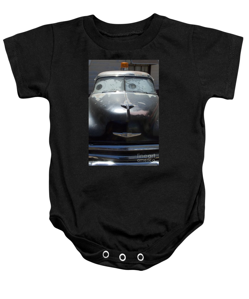 Original Baby Onesie featuring the photograph Route 66 And The Cars Movie by Bob Christopher