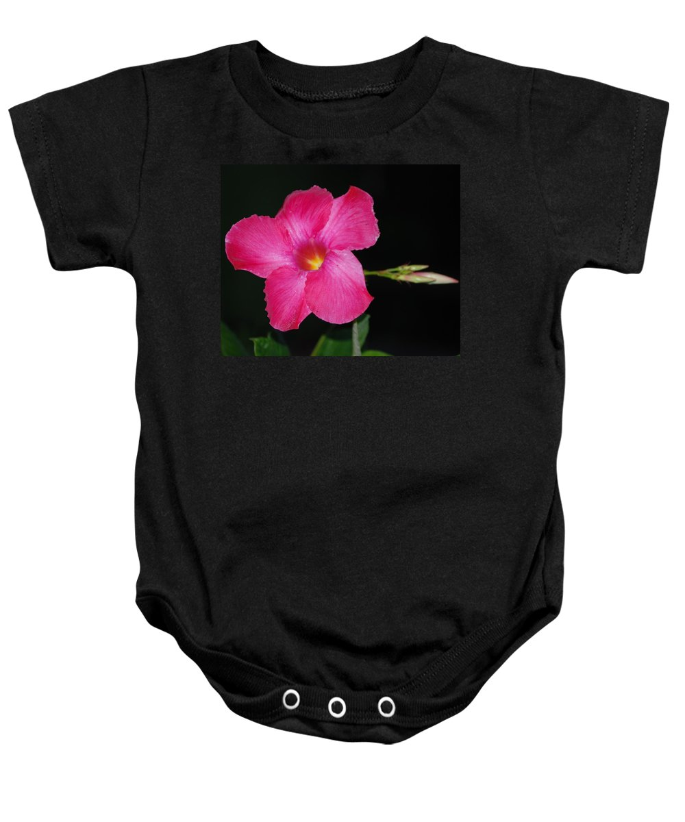 Flower Baby Onesie featuring the photograph Rubyred by Judy Hall-Folde