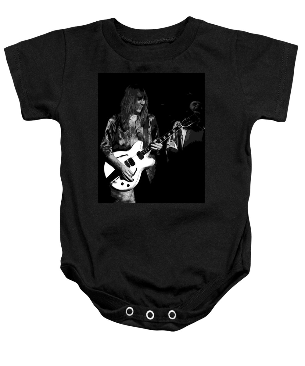 Rock Art Baby Onesie featuring the photograph Rocking Out In Spokane 1977 B by Ben Upham