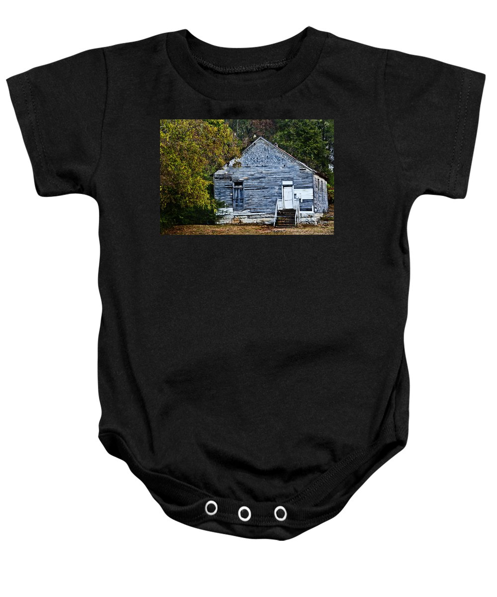 Barn Baby Onesie featuring the photograph Rustic Abode by Sheri Bartoszek