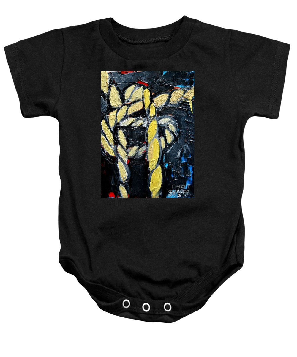 Knot Baby Onesie featuring the painting Sailor Knot 6 by Ana Maria Edulescu