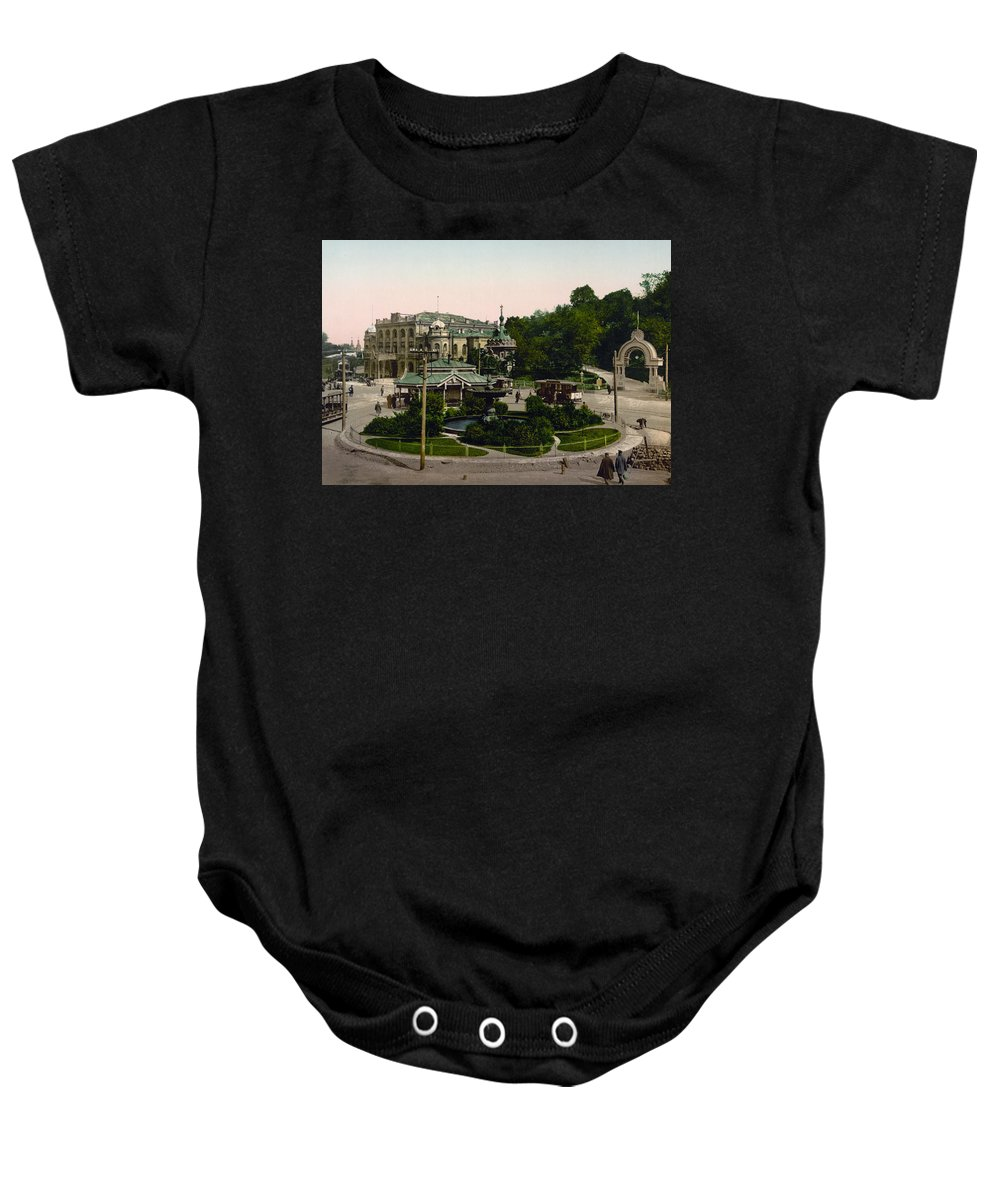 Kiev Baby Onesie featuring the photograph Saint Michael Monastery In Kiev - Ukraine - Ca 1900 by International Images