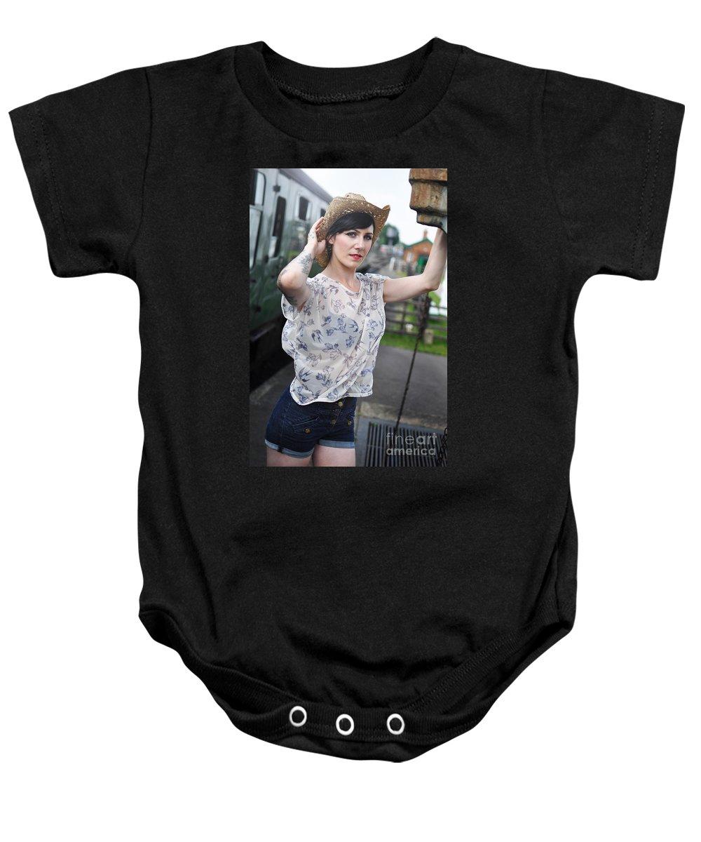 Yhun Suarez Baby Onesie featuring the photograph Sam11 by Yhun Suarez