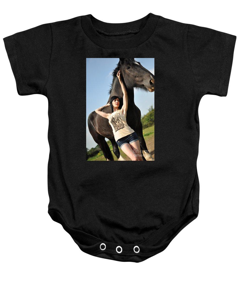 Yhun Suarez Baby Onesie featuring the photograph Sam16 by Yhun Suarez