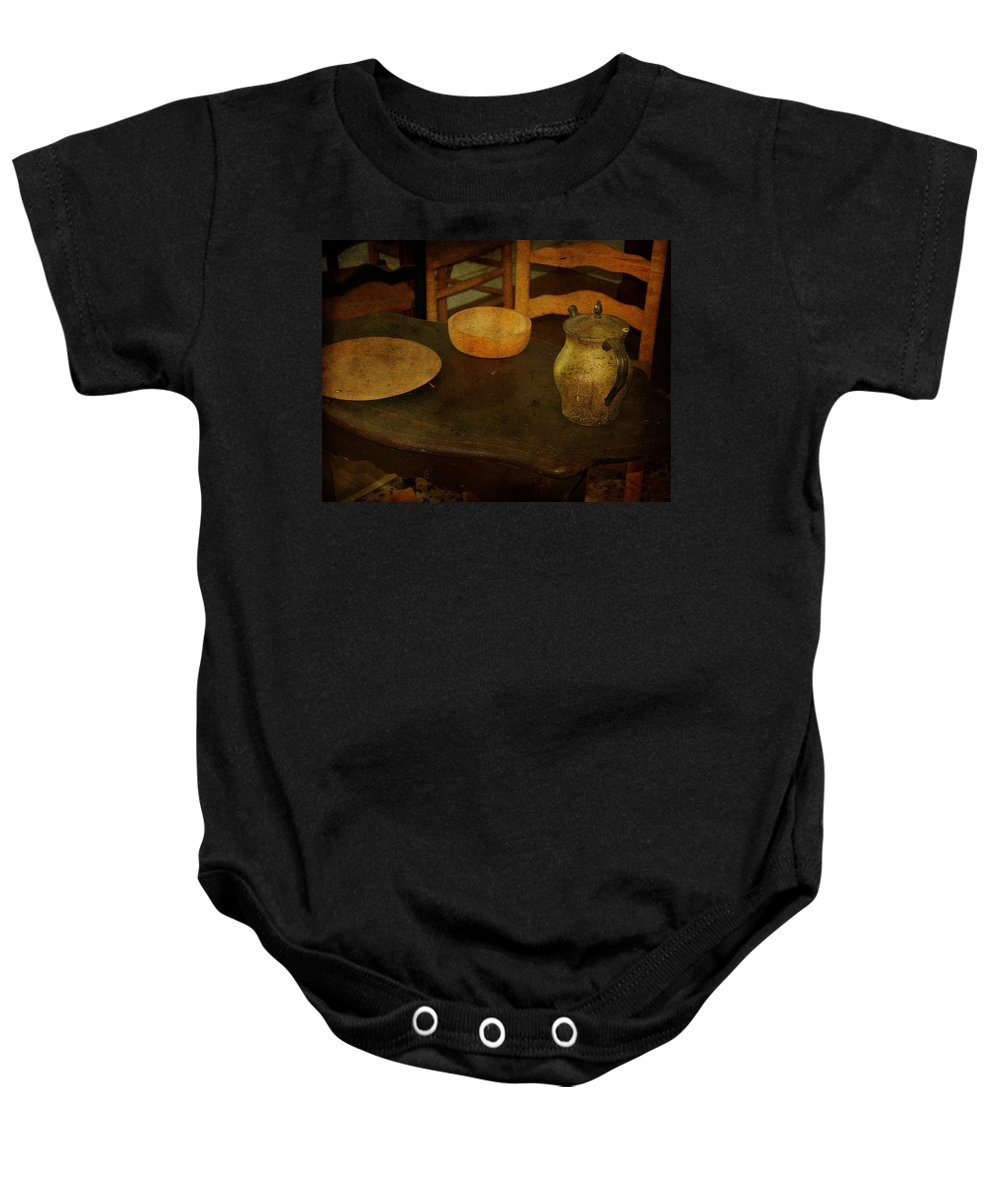 Table Baby Onesie featuring the photograph Savannah Smiles by Trish Tritz