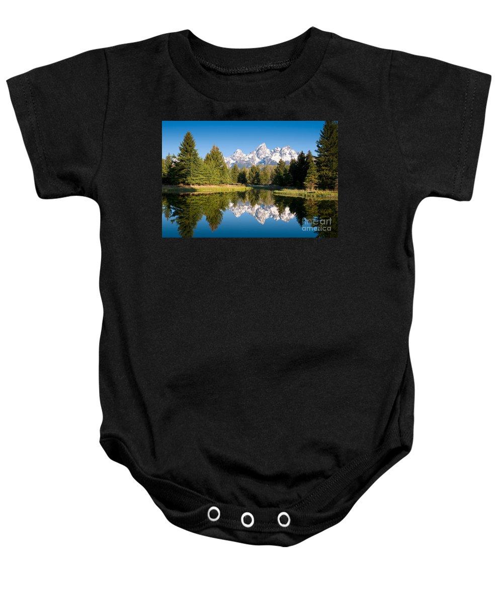 National Park Baby Onesie featuring the photograph Schwabacher Landing by Steve Stuller