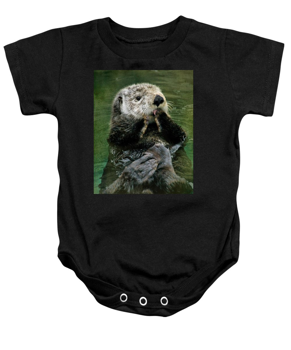 Otters Baby Onesie featuring the photograph Sea Otter by Kym Clarke