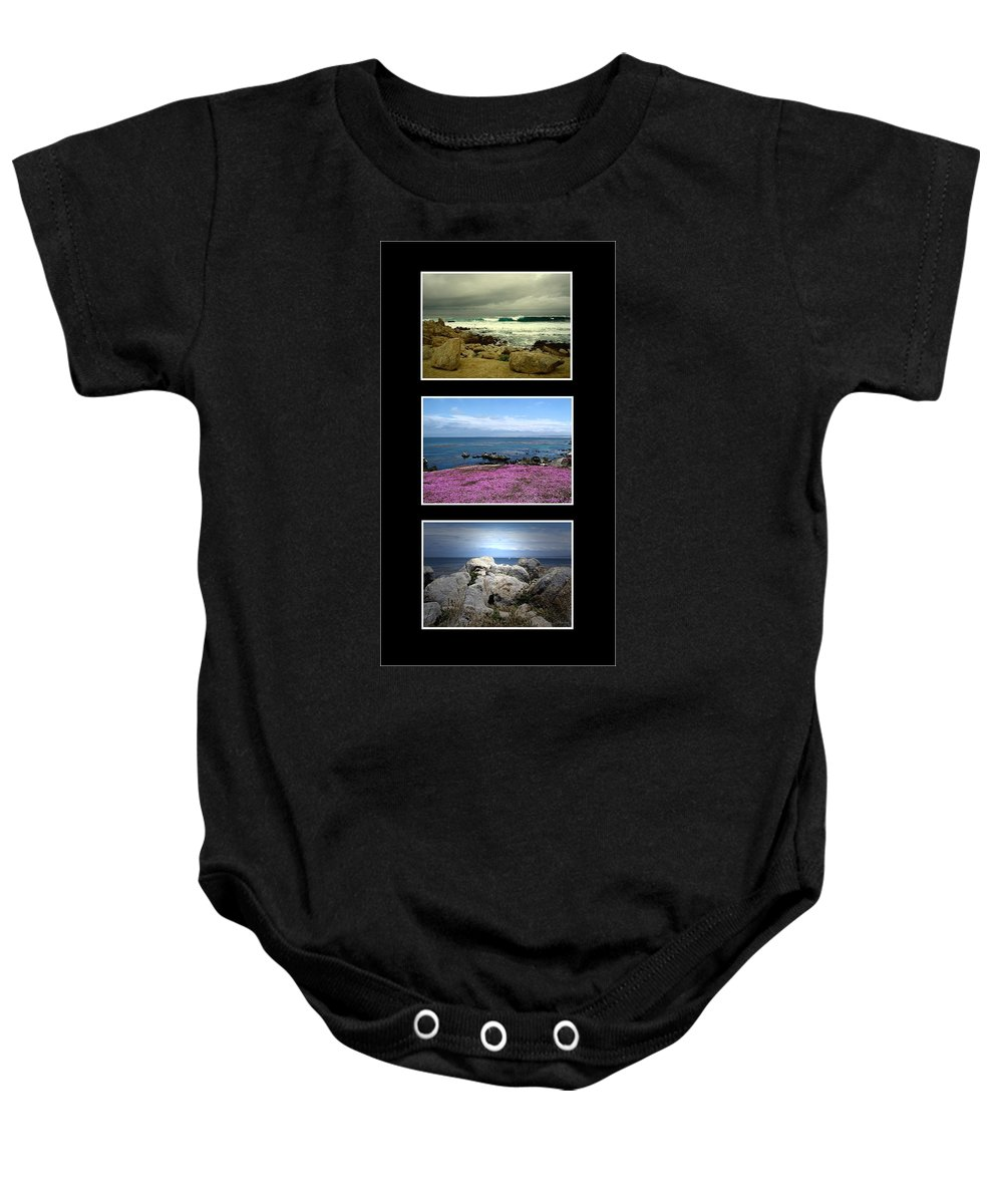 Ocean Baby Onesie featuring the photograph Seascape Triptych by Joyce Dickens