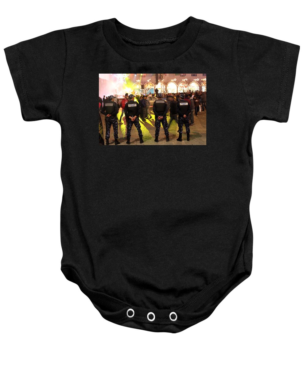 Lights Baby Onesie featuring the photograph Security And Lights by Munir Alawi