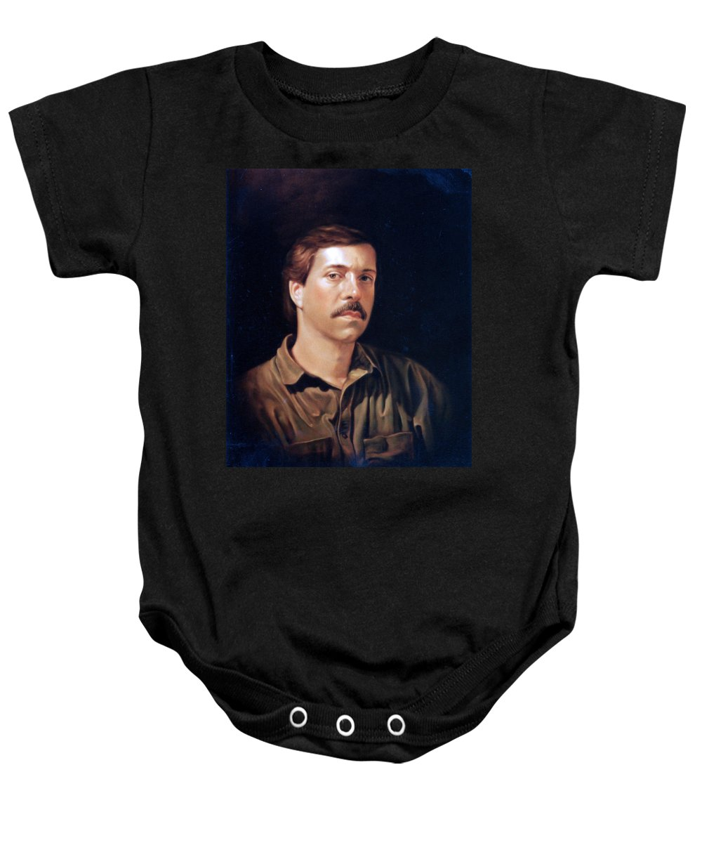 Self Baby Onesie featuring the painting Self Portrait by Patrick Anthony Pierson