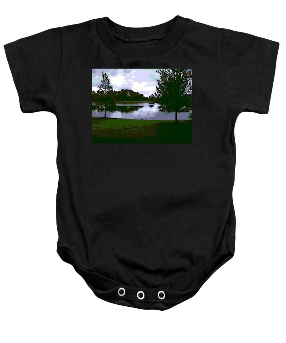 Serenity Lake Baby Onesie featuring the photograph Serenity Lake 4 by George Pedro