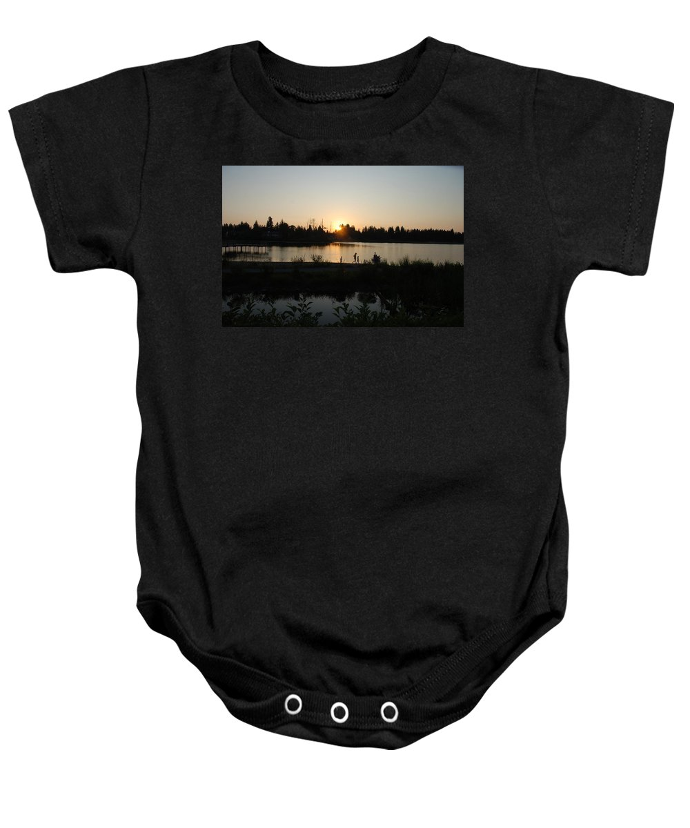 Summer Baby Onesie featuring the photograph Setting Sun by Michael Merry