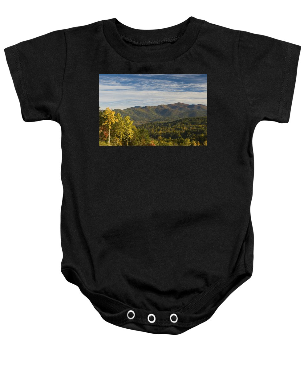 Asheville Baby Onesie featuring the photograph Seven Sisters by Joye Ardyn Durham