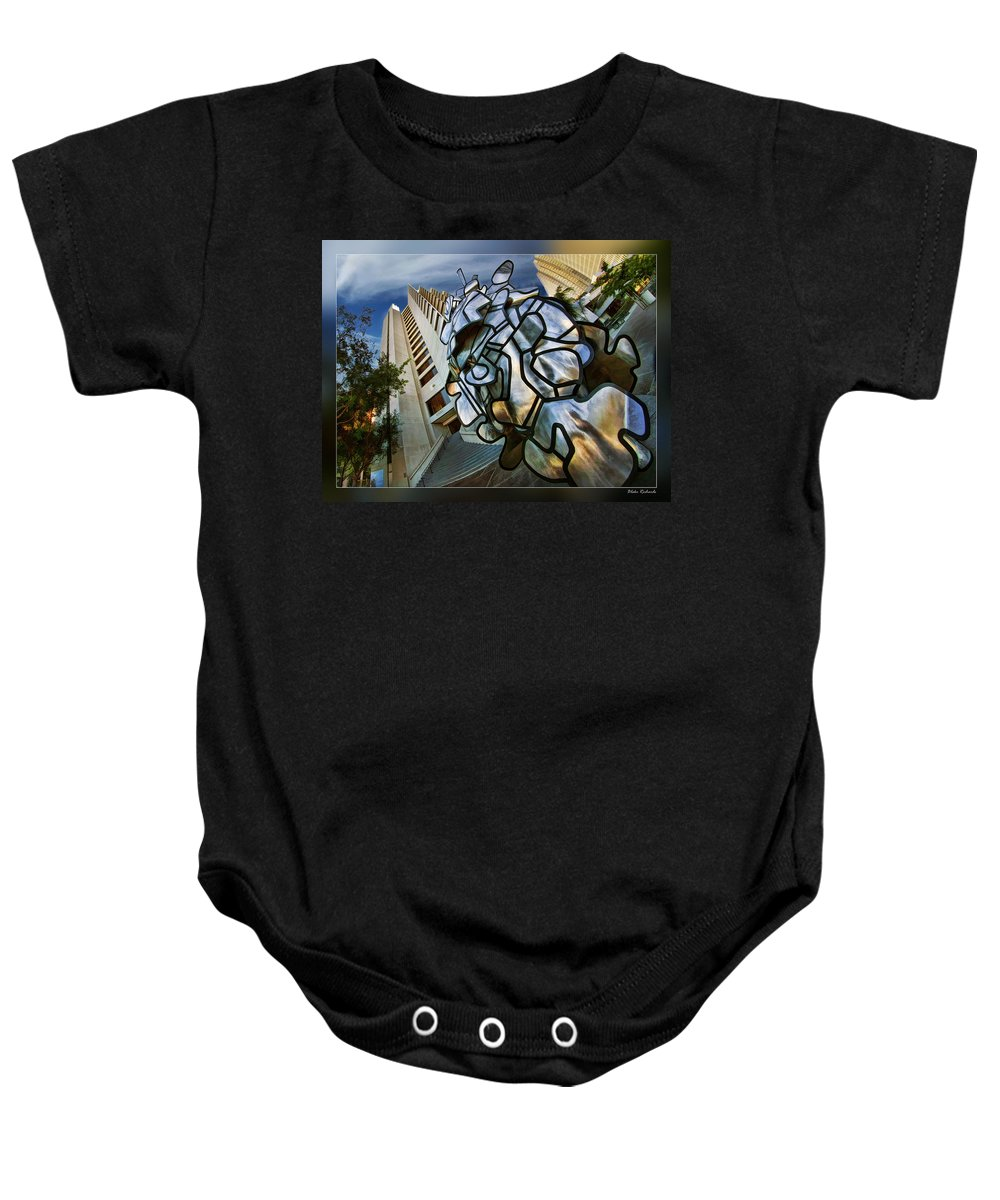 Art Photography Baby Onesie featuring the photograph Sf Hyatt Outside by Blake Richards